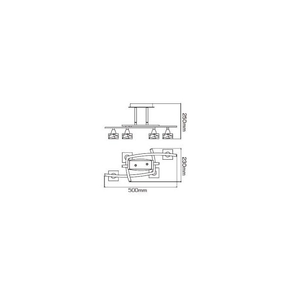 Semi plafón Zen 4xG9 Niquel satinado