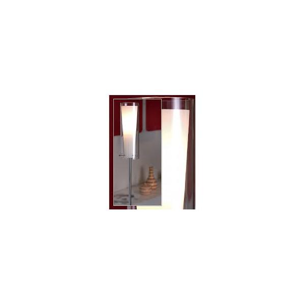 Lámpara de pie cristal cromo