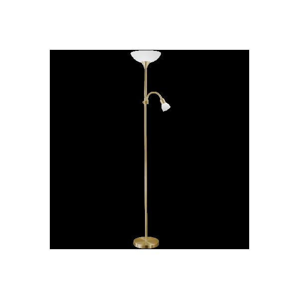 Lámpara de pie Níquel Satinado