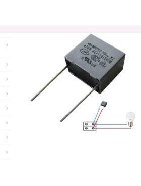 Condensador para bombilla led o bajo consumo
