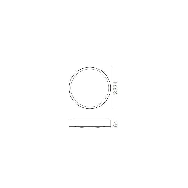 Plafon led roble claro 24w 3000k-3750k-4500k IP44