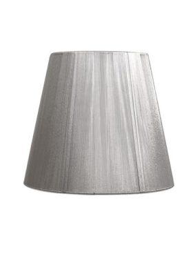 Pantalla Conica hilo E27 plata d25