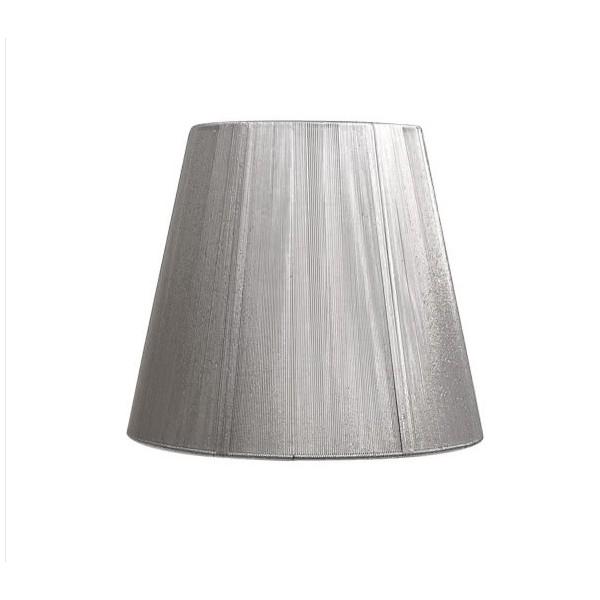 Pantalla Conica hilo E27 plata d20