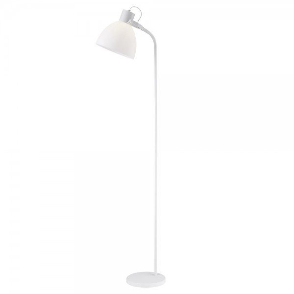 Lámpara de pie metal blanco