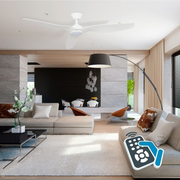 Ventilador techo blanco led 15W